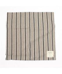 SAVE KHAKI/BASSHU Indigo Stripe cushion cover/001726415