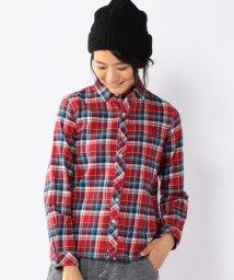 coen/ネルチェックレギュラーシャツ/001719516