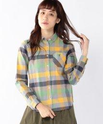 coen/撚り杢カラーブロックネルボタンダウンシャツ/001729538