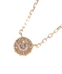 COCOSHNIK /K18ダイヤモンド ラウンド×メレダイヤ ネックレス/001746759