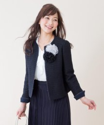 JIYU-KU /【セレモニースーツ】カラミリリヤーン ノーカラージャケット/001768842