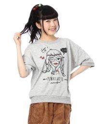 PINK-latte/ガールプリント半袖トレーナー/001793874