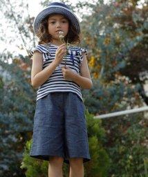 KUMIKYOKU KIDS/【TODDLER】メランジデニムガウチョ パンツ/001807145
