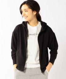 coen/ミニ裏毛8分袖ジップパーカー/001824285