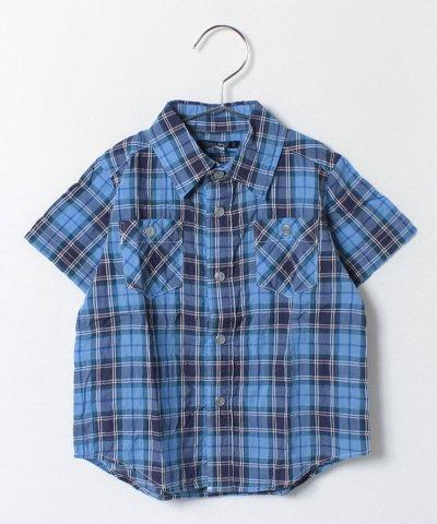 SHIPS KIDS:シャーリング チェック シャツ(100~130cm)