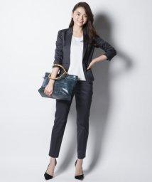NIJYUSANKU/【スーツ】スーピマシャンブレー クロップドパンツ/001833493