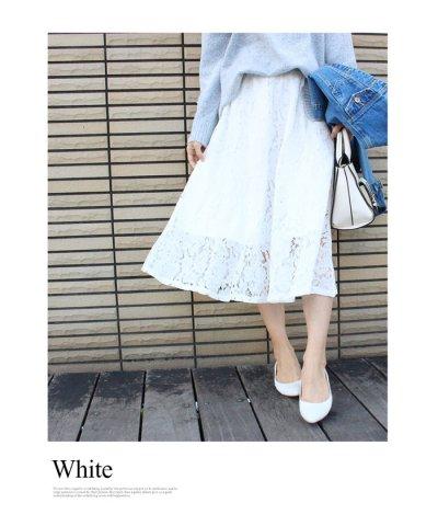 ミモレ丈フレアレーススカート