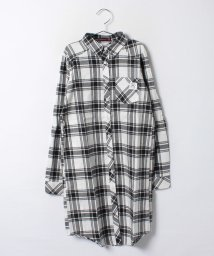 Lovetoxic/ロングチェックシャツ/001837516
