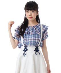 PINK-latte/シフォンチェックシャツ/001847201