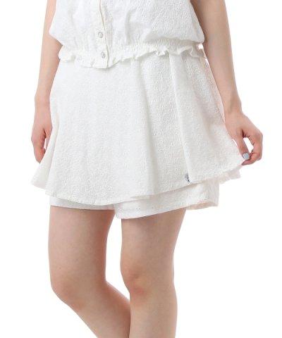 ハート刺しゅうフレアミニスカート