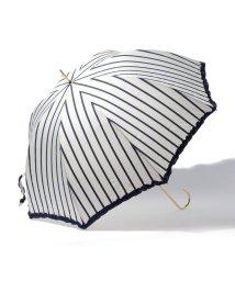 pink trick/雨晴兼用 長傘 (UVカット&軽量) ストライプ/001862508