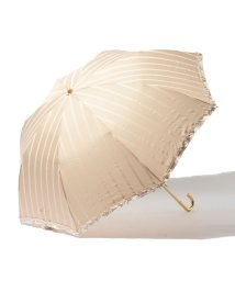 pink trick/【UVカット】PT折り傘STRIPE(ベージュ×ホワイト)/001862510