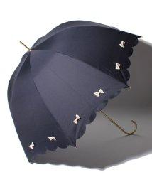 pink trick/雨晴兼用 長傘 (UVカット&軽量) カラフルリボン/001862545
