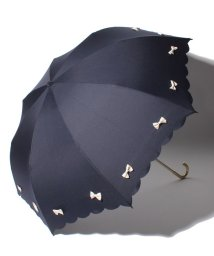 pink trick/雨晴兼用 折傘 (UVカット&軽量) カラフルリボン/001862551
