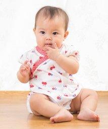 baby ampersand / F.O.KIDS MART/ちょうちょ柄浴衣風ロンパス/001865753