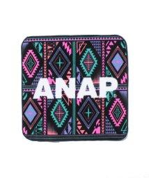 ANAP/ANAPロゴ幾何学柄ハンドタオル/001868065