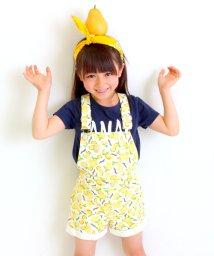 ANAP KIDS/レモンロゴ総柄サロペットパンツ/001870337