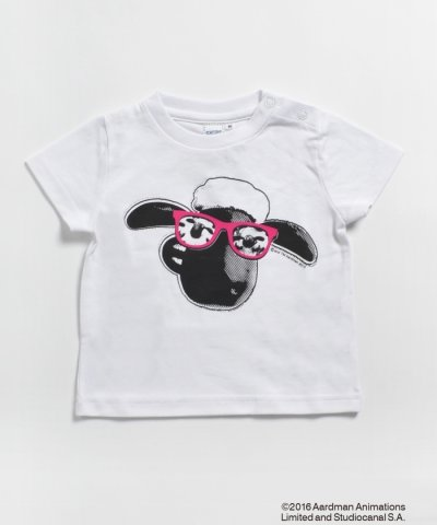 SHIPS KIDS:BLACK & WHITE SHAUN TEE(80~90cm)