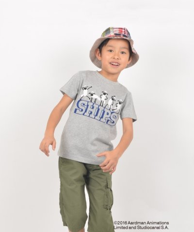 SHIPS KIDS:BLACK & WHITE SHAUN TEE(100~130cm)