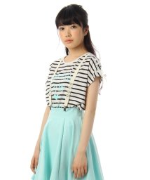 PINK-latte/肩レースアップデザインTシャツ/001883118