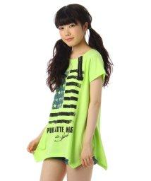 PINK-latte/ジップデザインTシャツワンピース/001883121