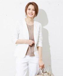 JIYU-KU /【洗える!】ハイゲージコンパクトタフタ ジャケット/001887762