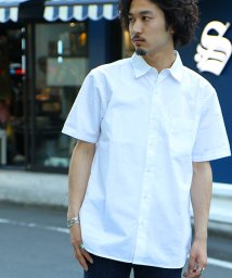 FREAK'S STORE/綿麻ブロード半袖シャツ/001891864