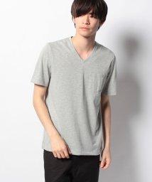 JUNRed/メランジVネックTシャツ/001888831