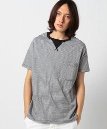 SHIPS MEN/CAL CRU(カルクルー): リラックスフィット ボーダー ポケットTシャツ /001909741