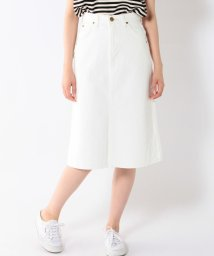 SHIPS WOMEN/LEE:ホワイトデニムスカート/001910393