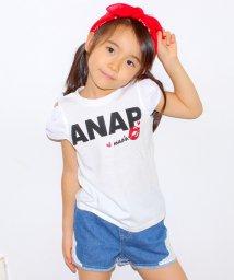 ANAP KIDS/袖シフォンLIPロゴトップス/001906167