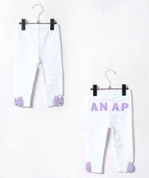 ANAP KIDS/リボン配色カラー7分丈レギンス/001911257