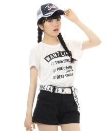 PINK-latte/ロゴデザインTシャツ/001917603