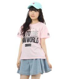 PINK-latte/ビッグロゴデザインTシャツ/001917606