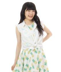 PINK-latte/フリルノースリーブシャツ/001917619