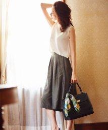 NIJYUSANKU/【洗える&セットアップ対応】ブライトリネンスパン スカーチョパンツ/001918908