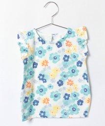 LAGOM/フリル花柄Tシャツ/001919274