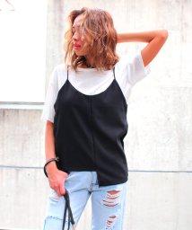 ANAP/Tシャツ+ジョーゼットキャミ SET/001919888