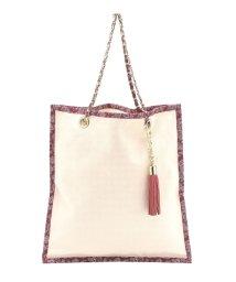 pink adobe/3WAYタッセル付きトートバッグ/001931958