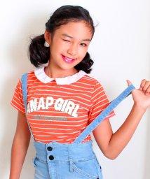 ANAP GiRL/衿付ボーダーTシャツ/001928043