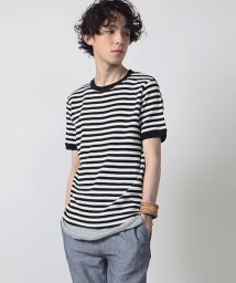 FREAK'S STORE/米綿ワッフルボーダーTシャツ/001937511