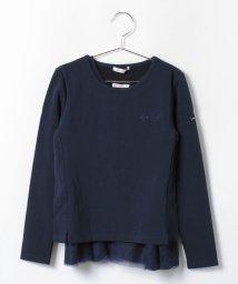 byLOVEiT/ロゴ刺しゅう入り長袖Tシャツ×裾チュール使いタンクトップセット/001932102