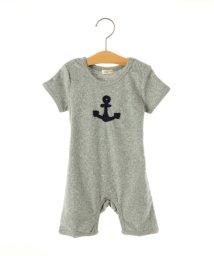 SHIPS KIDS/SHIPS KIDS:パイル 半袖 ロンパース/001939265