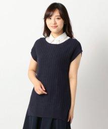 MISCH MASCH/シャツ衿半袖ドルマンニット/001933497