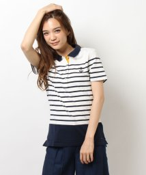 TOMMY HILFIGER WOMEN/ミックスボーダーポロシャツ/001935795