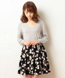 MIIA/ベロア花柄フレアスカート/001940516