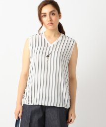 ICB(LARGE SIZE)/MultiStripeCombi カットソー/001941307