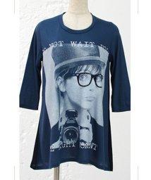 REAL CUBE/【REAL CUBEオリジナル】シフォン切替プリントカットソーキュートプリントTシャツ/001932709