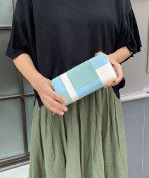 PI/【Pi ピーアイ】合皮ブロック配色ラウンドファスナー長財布/001936014