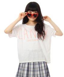 PINK-latte/ハート&ビッグロゴカットソー/001948068